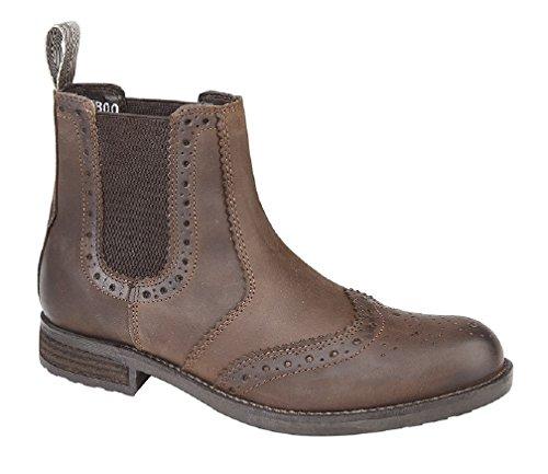 Roamers Softie Tan Leather uomo Waxy Brown Stivali rARc0qWTr