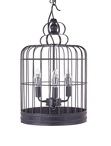 Black Bird Cage Pendant Light in US - 4