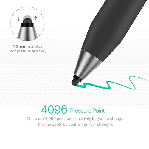 Microsoft Certified Surface Pen,Stylus Pens with 4096 Pressure Sensitivity,Supporting 500-Hour Playing Time 180-Day Stand-by,Built-in Battery Active Styli Touchscreen Pen for Surface Series (black-02) by Heiyo (Image #1)'