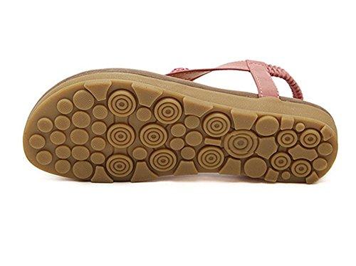 en Flip Strass Femmes élastique Outdoor Sandales Flops Strasss Flops pink Flip Plat EU Été T YOUJIA lanière F0gvqttw