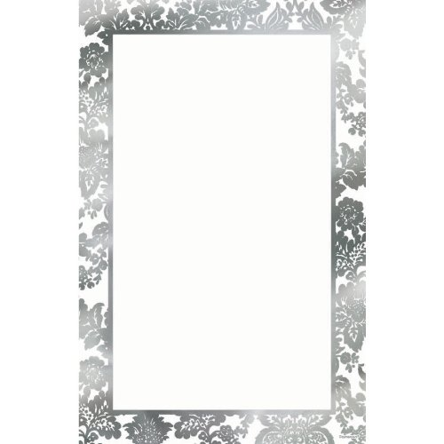 (amscan Party Perfect Platinum Damask Printable Wedding Invitations Kit , 8