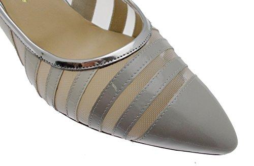 decolt fermé Sandale Blanc de Art Argent Fond Femme en Cuir Chaussures Gris de Réseau MELLUSO E1566 d5twdg