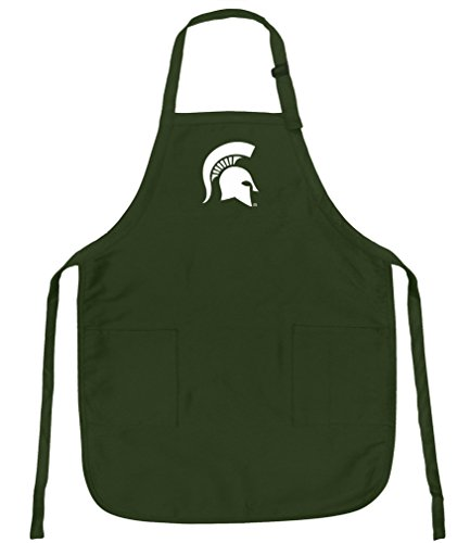 (Broad Bay Michigan State Apron for Barbecue Grilling Kitchen Gift for HIM or Her)