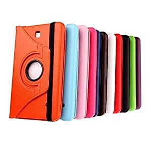 JJE 360 Rotatable Leather Lichee Pattern Case with Stand for Samsung Galaxy Tab 4 8.0 T330(Assorted Colors) , Purple