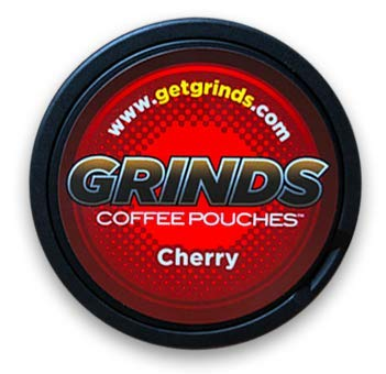 Grinds Coffee Pouches - 6 Cans - Cherry - Tobacco Free Healthy Alternative