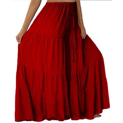 Lotustraders - Pantalón - para mujer Maroon Red