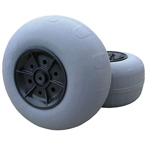 CRESTWALKER 2 Large 12 Inches Balloon Wheels, 7/8 Inch Hub, Replacement Polyurethane Beach Cart Wheels for Sand (Beach Tires)