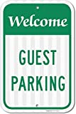 Guest Parking Sign, No Parking Sign, 12x18 3M Reflective (EGP) Rust Free .63 Aluminum, Easy to Mount Weather Resistant Long Lasting Ink, Made in USA by SIGO SIGNS