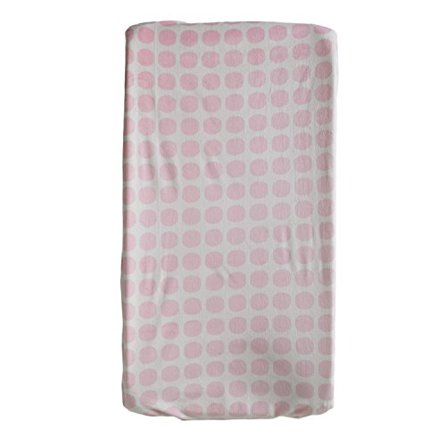 Living Textiles Change Pad Cover - Pink Mod Dot - Durable Change Pad, Safe and Gentle for Baby Skin, Machine Washable for Easy Care, Fully Elasticized for Secure - Dot Crib Designer Sheet
