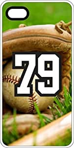 Baseball Sports Fan Player Number 79 Clear Rubber Decorative iPhone 4/4s Case by lolosakes