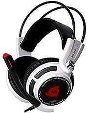 KLIM Puma - Micro Gamer Headset - 7.1 Surround-Sound - Hochqualitativer Klang - Integrierte Vibrationen - Perfekt für PC und PS4 Gaming Black