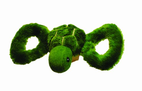 Jolly Pets Jolly Tug-a-Mal Turtle Tug/Squeak Toy, Medium]()