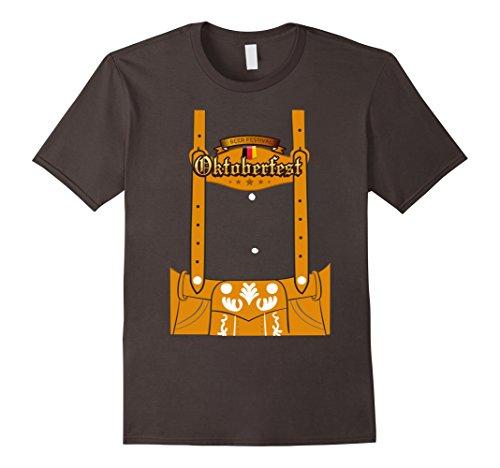 Mens German Lederhosen Oktoberfest Costume Funny T-Shirt XL (Funny Man Costumes 2016)