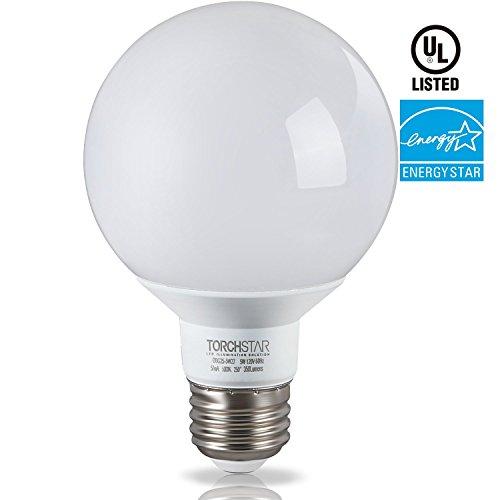 Led Bulb For Bathroom: G25 Globe LED Light Bulb, 5W (40W Equiv.), ENERGY STAR