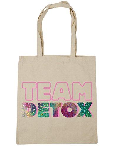 HippoWarehouse equipo Detox Tote Compras Bolsa de playa 42cm x38cm, 10litros Natural