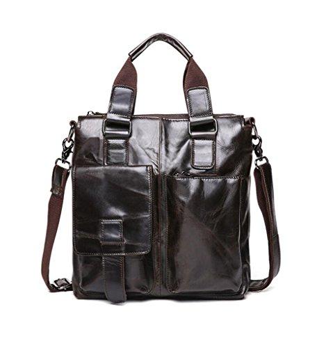 Leather Men's Vintage Shoulder Capacity Large Briefcases 3 Bags Design Messenger Sucastle 3 O5wSUqxx