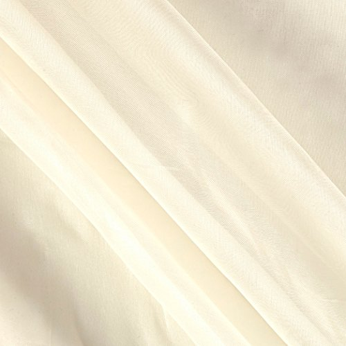 TELIO Silk Organza Fabric by The Yard, Ivory