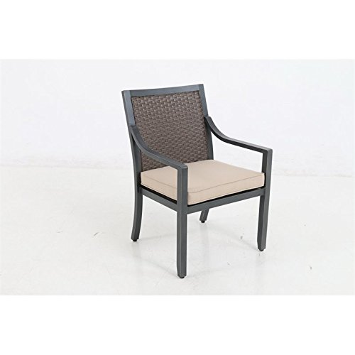 Sunvilla Belize Wicker Patio Dining Chair in Sand
