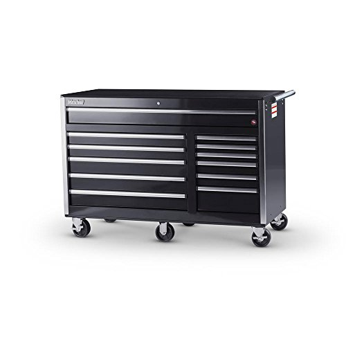 International Tech Series 56 in. 12-Drawer Roller Cabinet Tool Chest (6 Drawer Cabinet Side Series)