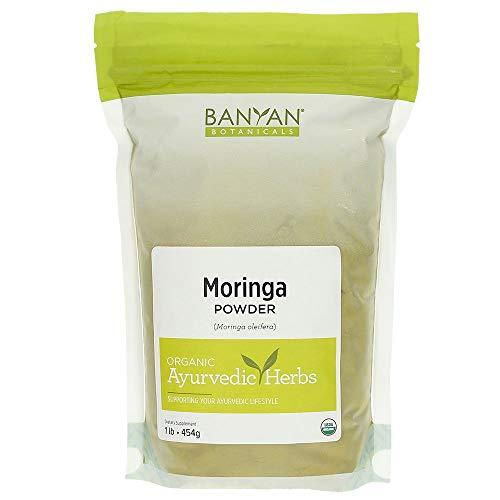 Banyan Botanicals Moringa Leaf Powder - USDA Certified Organic - Moringa Oleifera - Sun Dried - Raw Herbal Superfood - Natural Energy Boost for Optimal Wellness *