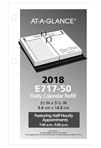 "Daily Desk Calendar Refill, January 2018 - December 2018, 3-1/2"" x 6"", Loose Leaf (E71750) Photo #2"