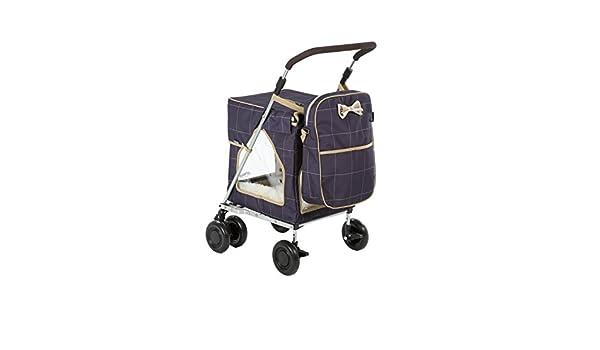 ... fuerte y estable mascota, cochecito de perro, transportador, carrito, carrito, cochecito, carrito de perro con ruedas y bolsa organizadora a juego ...