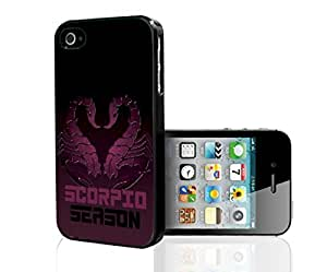 Purple and Black Scorpio Season Horoscope Hard Snap on Phone Case (iPhone 5/5s)