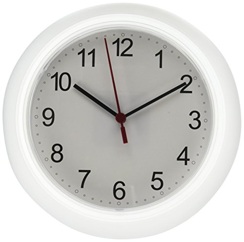 Ikea RUSCH 25X4 cm Wall Clock, White (Wall Clock Plastic)