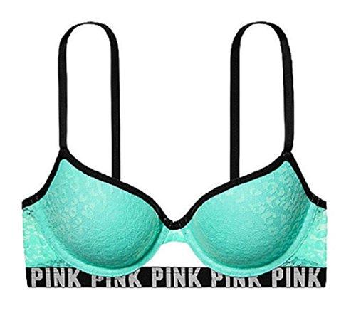 Victoria's Secret Pink Leopard Lace Push-up Bra