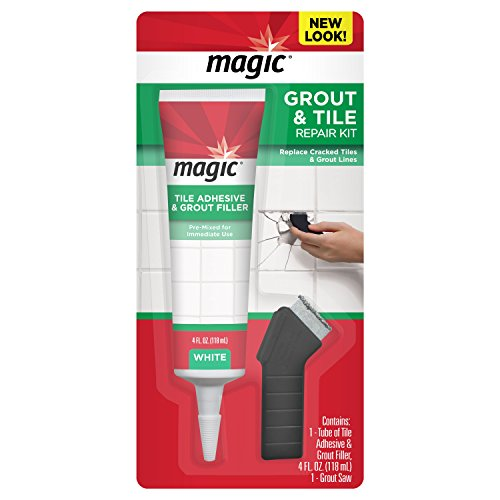 Magic Grout & Tile Restore Kit - Complete Solution for Removing and Replacing Cracked Tile and Grout Lines