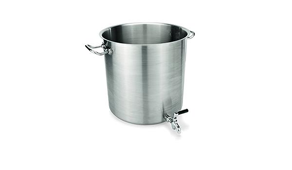 guisos Olla de 70 litros de acero inoxidable pulido con term/ómetro y grifo para sopas