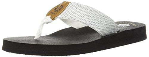 - Yellow Box Women's Dax Sandal, White, 9 M US