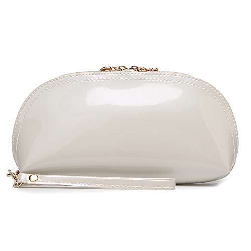 H.Tavel Lady Woman Small Patent Leather Evening Party Clutch Organizer Bag Scratch Wallets Purse by H.Tavel
