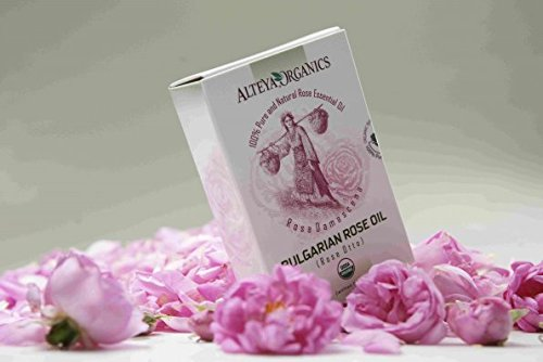 100% Pure USDA Organic Essential Bulgarian Rose Oil (REAL Rose Otto) - 4.3ml, From Alteya's Rose Distillery, Finest Quality