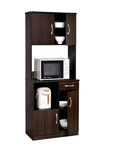 ACME 12258 Quintus Kitchen Cabinet Set, Espresso ()