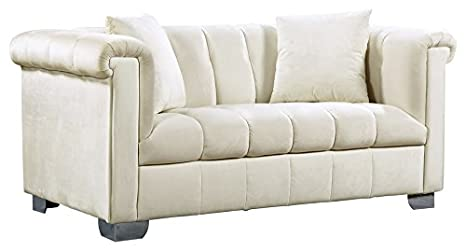 Amazon.com: Meridian Muebles 615-l Kayla Canal Tufted ...
