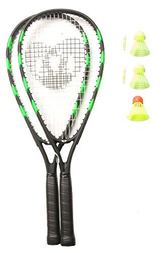 Optima Crossminton Speed Badminton Set, 2 Racquets, 3 Speeder