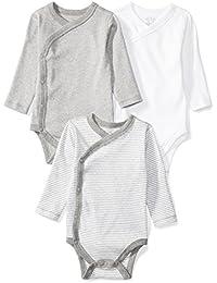 Baby Set of 3 Organic Long-Sleeve Side-Snap Bodysuits
