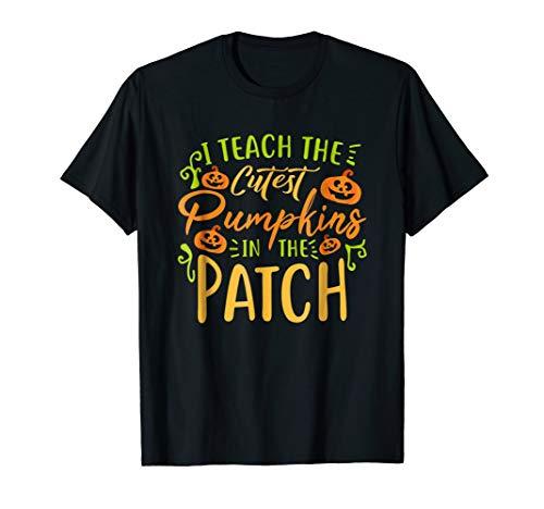 Cute Halloween Teacher Shirt Gift Idea I Pumpkins,