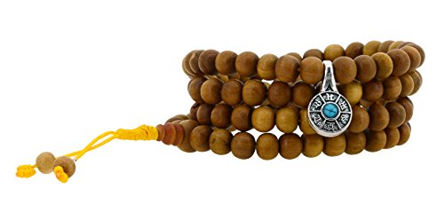 Tibetan Zen Buddhist 108 Sandalwood Scented Mala Prayer Beads Necklace Wrap Bracelet