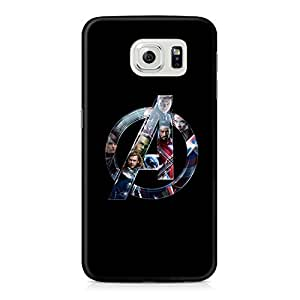 The Avengers Logo Full Wrap Rough Case Skin, Fashion Design Image Custom , Durable Hard 3d Case Cover for Samsung Galaxy S6 Regular, Case New Design By Art-print