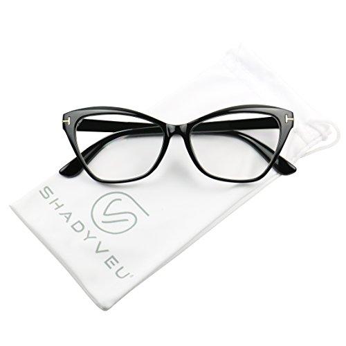 79c2502bd7 ShadyVEU - Women's Sophisticated Cat Eye Sexy Sleek Clear Lens Rx  Prescription Frame Eye Glasses (