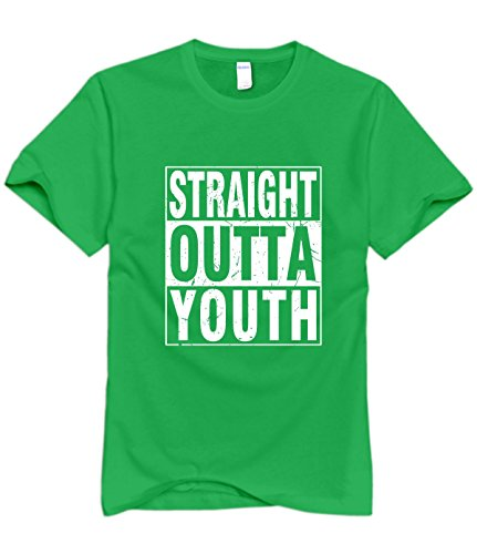 Mens Straight Outta Youth Fashion Tee Shirts M For Men - Dress Scranton Shops In