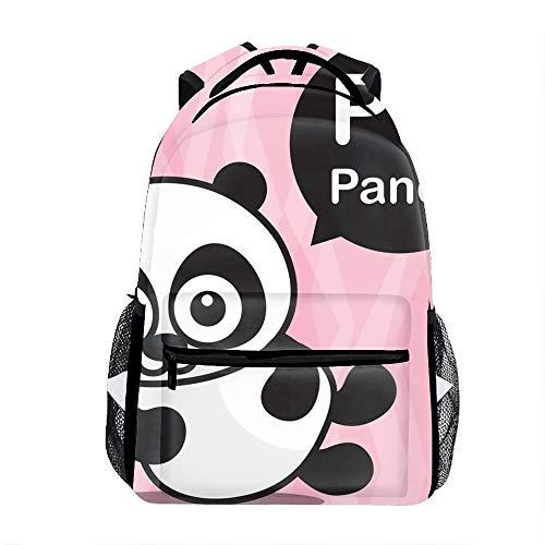 kid's Panda Color Cartoon Backpack 3D Printing Schoolbag ()
