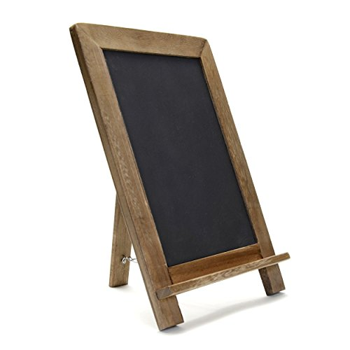 Vintage Slate Kitchen Chalkboard (14″ x 9.5″) – Decorative Standing Chalk Board for Rustic Wedding & Kitchen Decor