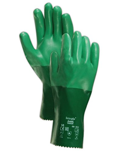 (Ansell 103625 Scorpio 8352 Neoprene Coated Knit Cotton Lined Utility Gloves, 0.83