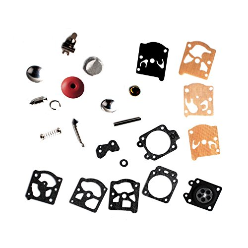 Valve Wat (Wadoy K20-WAT Carburetor Rebuild Kit with Check Valve for Walbro Carb WA WT Series Carb Echo Poulan Trimmer Edger)