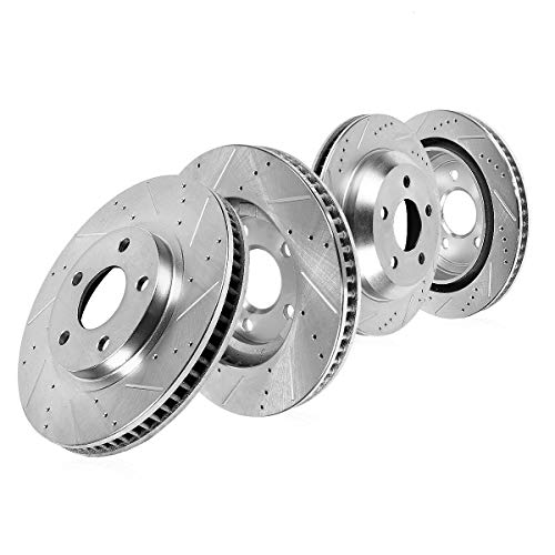 Callahan CDS03927 FRONT 360mm + REAR 309.9mm D/S 5 Lug [4] Rotors [ for 2004-2010 Audi A8 Vw Volkswagen Phaeton ] ()