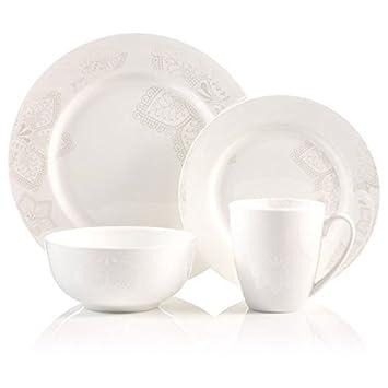 Roscher Bone China 16 Pieces Soup Bowl Dinner Plates Salads Plates Cups  sc 1 st  Amazon.com & Amazon.com : Roscher Bone China 16 Pieces Soup Bowl Dinner Plates ...