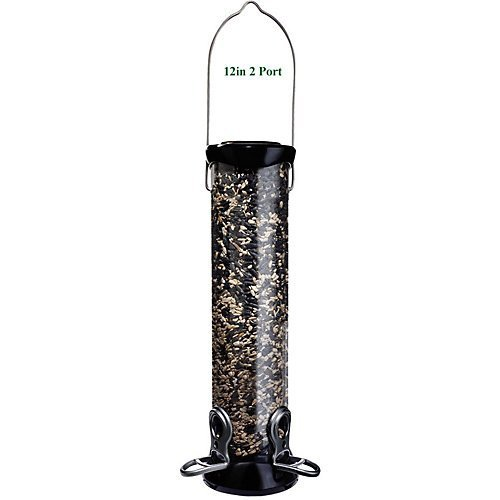Droll Yankees 18'' Onyx Sunflower Tube Feeder w/Removable Base (quantity 6) by Droll Yankees